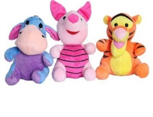 Cuddles Collections Donkey pig and tiger commbo  - 22 cm