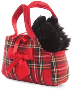 Hamleys Fancy Pal Scottie in Tartan Bag - 8 Inch  - 16 cm