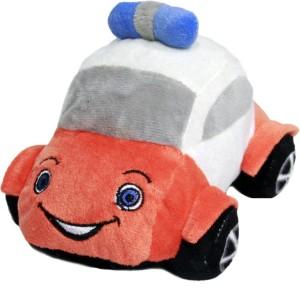 Soft Buddies Plush Toy Police Car  - 4 inch