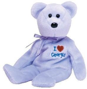 Ty Beanie Ba Georgia The Bear (I Love Georgia State Exclusive)