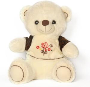 Vgollyjollynx Ivory Teddy Wid Brown Sleeves T-Shirt (8-11m)  - 35 cm