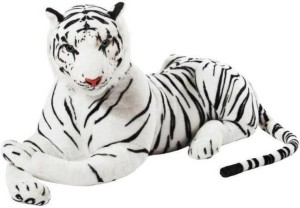 S S Mart Large White Tiger Soft toy  - 90 cm