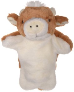Twisha Hand Puppets Cow  - 10 inch