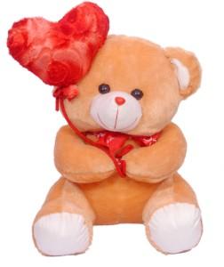 Ktkashish Toys Kashish red & brown ballon teddy bear 20 inch  - 20 inch