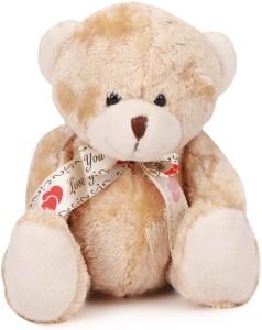 Starwalk Bear Plush Beige Colour with Love You Ribbon  - 20 cm