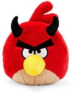 Angry Birds Seasons 5 Inch Halloween Devil Red Bird No Sound Plush