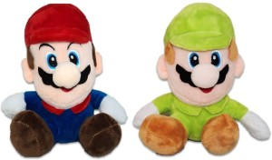 ToyJoy Super Mario and Luigi Combo Soft Plush Toys (Pack of 2)  - 16 cm