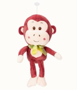 ToynJoy Cute Soft Maroon Hanging Monkey with Long Legs Stuffed Toy  - 32 cm