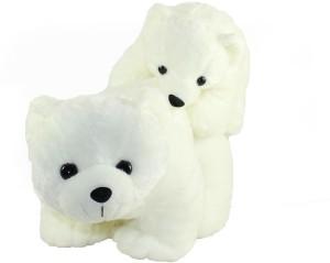 Tickles Mother Polar Bear With Baby  - 30 cm