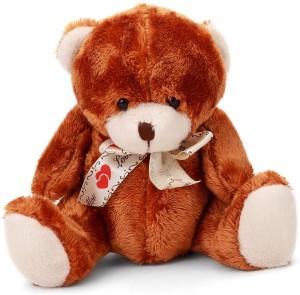 Starwalk Bear Plush Brown Colour with Love You Ribbon  - 20 cm