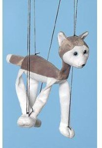 Sunny Puppets Dog (Husky) Small Marionette