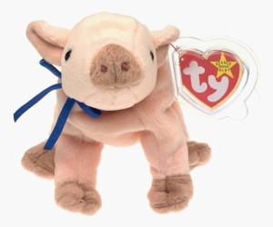Beanie Babies TY Baby KNUCKLES the Pig Toy 20 inch Multicolor143 ... 32ae7cf0391