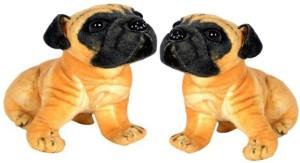 VRV Soft Toy Pug Dog 32 cm (set of 2)  - 15 cm