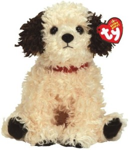 Ty Beanie Babies Sneakers Cream Dog With Brown Ears