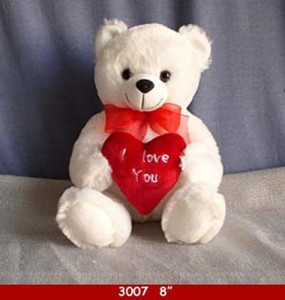 I love you teddy bear With Red Heart And Red Ribbonplushtb2