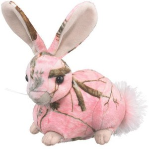 Pink Bunny Camo Real Tree Rabbit Animal Camouflage Soft Plush