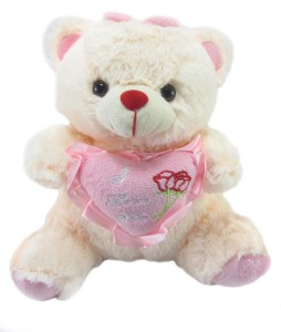 Tickles Sweet Teddy With Heart  - 20 cm