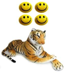VRV Soft Smiley Face Balls and Yellow Tiger 32cm  - 16 cm