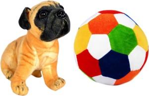 Alexus Pug Dog And Football  - 32 cm