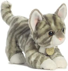 Aurora World Miyoni Tots Grey Tab Kitten Plush