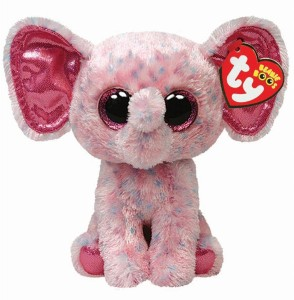 Ty Ellie - Pink Speckled Elephant Reg  - 6.2 inch