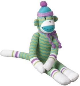 MVP Brands hobart zigzag sock monkey collectible green medium