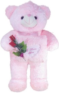 Tickles Teddy With Rose And Heart  - 75 cm
