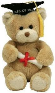 Ty Beanie Babies Scholar 2007 Graduation Bear With Diploma