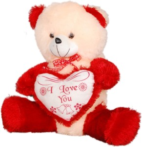 Ktkashish Toys Kashish cream & red teddy bear  - 21 inch