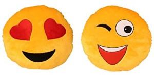 Skylofts Cool Winking & Love Heart Smiley Cushion  - 40 cm