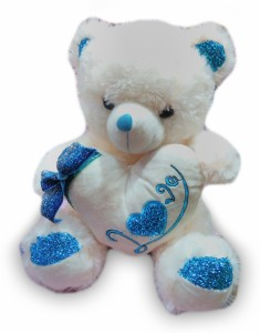 Cuddles Collections Love Teddy With Hart  - 35 cm