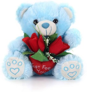 Tickles Just For You Teddy With Rose  - 24 cm