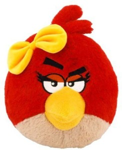 Angry Birds Plush 5Inch Girl Red Bird With Sound