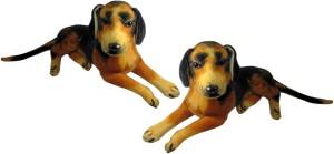 Alexus Two Sitting Dog  - 32 cm