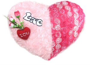 Tickles I Love You Heart Cushion 41 Cm Pink Best Price In India