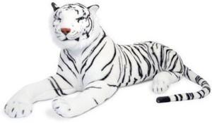 Creative Kids Stuffed Soft White Tiger  - 40 cm