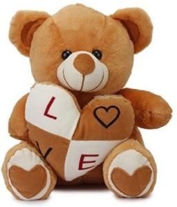 Cuddles Stuffed Bear With Heart  - 38 cm