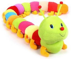 Ktkashish Toys Green Caterpillow 55 Cm  - 21 inch