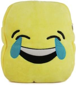 Deals India Deals India Kids Shoulder Yellow Happy HAHA Smiley Bag (38 x 30 x 10 cm)(BagSmileyX_1)  - 32 cm