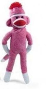 Plushland Original Sock Monkey 20 Inches Tall (Pink)