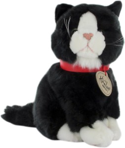 Hamleys Sitting Cat Soft Toy With Beans - Black  - 10.6 inch