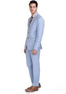 Azio Design 2 Button Solid Men's Suit