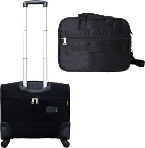 1f8f73921487 Timus Atlanta Plus Black Pilot 4 Wheel Spinner   Eon Office Laptop Bags  Combo Set Of 2 Check-in Luggage - 17 inchBlack