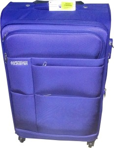 American Tourister At Speed Spinner66Cm Royal Blu Expandable  Cabin Luggage - 25 inch
