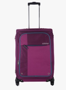 American Tourister Hugo Spinner 55 Cm -Magenta Expandable  Cabin Luggage - Large