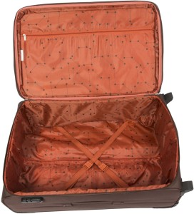 8dd1c90d044 Safari Water resistance 2 Wheel Trolley Bag Expandable Cabin Luggage - 55  inchBrown