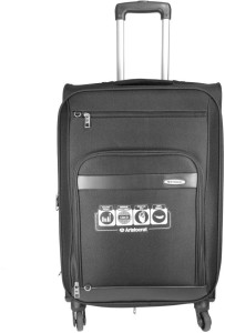 Aristocrat Atlantica 4w exp strolly 54 black Expandable  Check-in Luggage - 23.6 inch