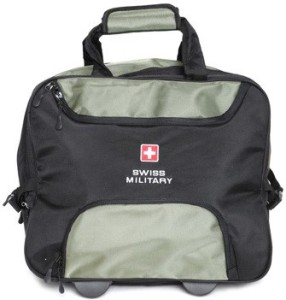 Swiss Military POLYESTER OVERNIGHTER LAPTOP TROLLEY BAG -LTB1 Cabin Luggage - 14 inch