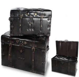 Vishal Props Leather trunk set - small size Check-in Luggage - 40 inch