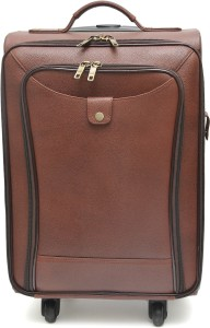 WestHide LEATHER CABIN LUGGAGE WITH TROLLEY 21 inch/53 cm Travel Duffel Bag
